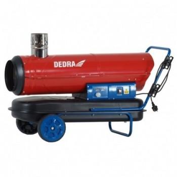 Cilindrinis dyzelinis šildytuvas 30 kW su išmetamųjų dujų šalinimu ir termostatu DEDRA