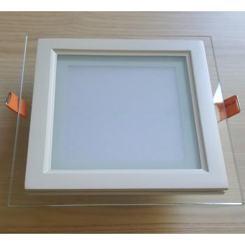 LED panelė 12W su stiklu kvadratinė V-TAC  - 110777