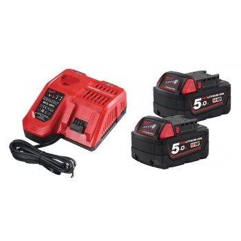 Batteries with charger set M18 NRG-502