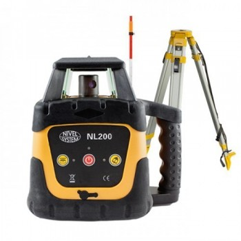 Laser Level (Horizontal) NL200G with Laser Meter (LS-24) and Retractable Stand (SJJ32)