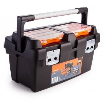 Plastikinė įrankių dėžė su metalinėmis sagtimis BAHCO