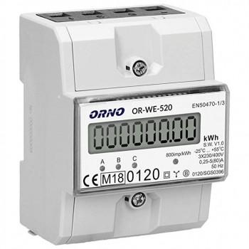 Trifazis elektros skaitiklis ORNO OR-WE-520
