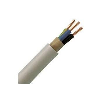 Kabelis NYM-J 3x4mm2, varinis monolitinis apvalus baltas