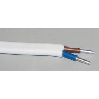 Aliuminis monolitinis kabelis AL 2x2.5mm2