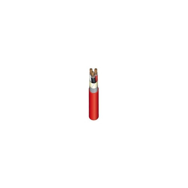 Kabelis nedegus, HDGS 3x1,5mm2, varinis monolitinis apvalus raudonas (E90)