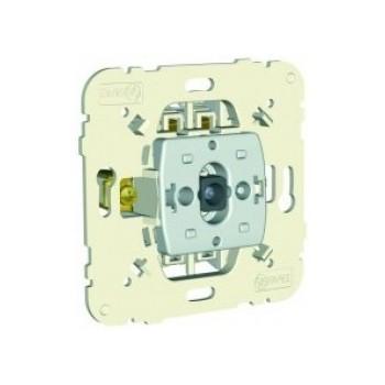 Vieno klavišo jungiklio mechanizmas, viengubas, su įjungto jungiklio indikacija